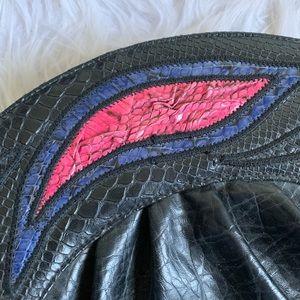 bags by sylvia dee Bags - Bags by Sylvia Dee | leather python detail clutch